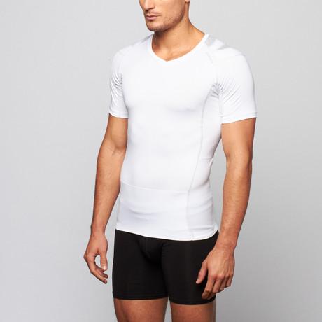 Pullover Posture Shirt 2.0 // White + Gray (S)