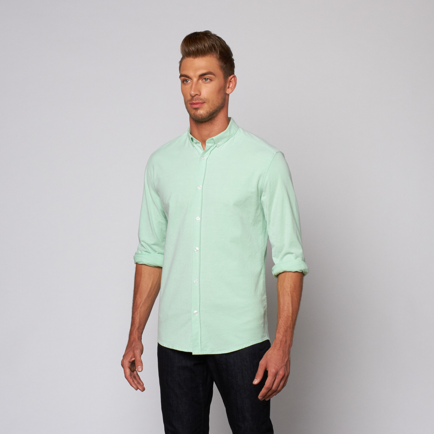 26fb757af78 Dansk Dansk    High Summer Oxford Button Down Shirt    Green (XS ...