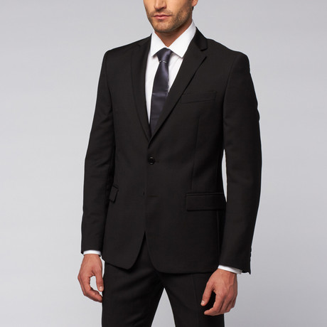 Versace Collection // Wool Blend Two-Piece Suit // Black (US: 50R)