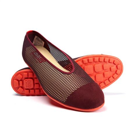 Summer Mesh Slip-On Sneaker // Maroon (US: 7)