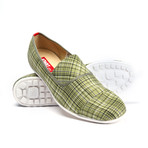 Paris Stripe Slip-On Sneaker // Green (US: 8.5)