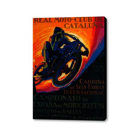 "Real Moto Club De Cataluña (16""W x 20""H x 1.5""D)"