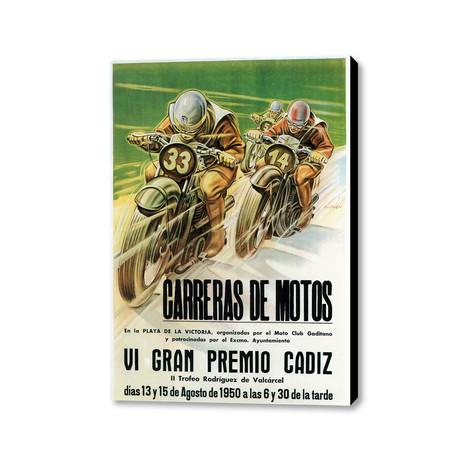 """Carreras De Motos (24""""W x 36""""H x 1.5""""D)"""