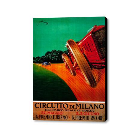 """Circuito Di Milano (16""""W x 20""""H x 1.5""""D)"""