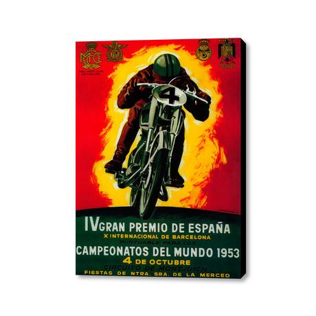 """IV Gran Premio De Espana (16""""W x 20""""H x 1.5""""D)"""