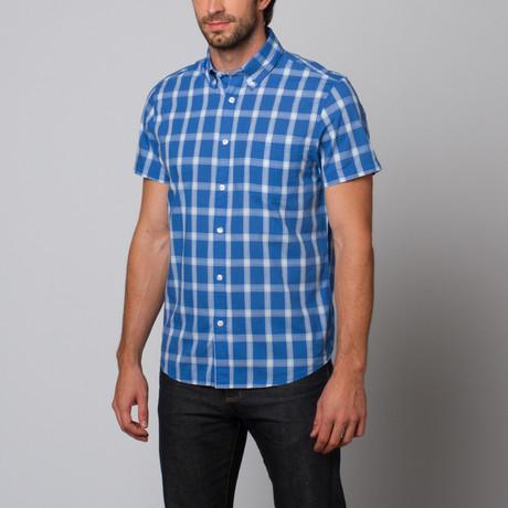 Slate & Stone // Plaid Button Up Shirt // Blue (S)