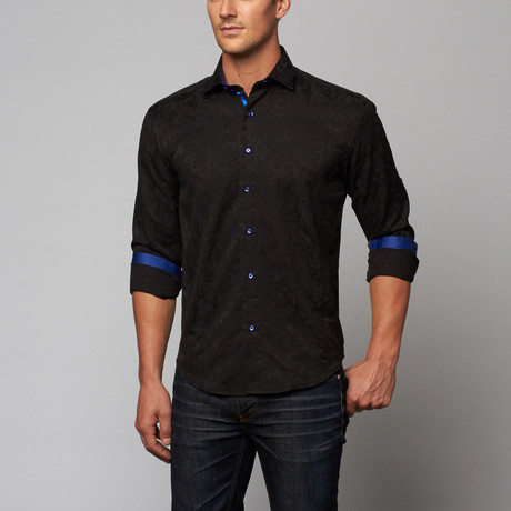 Bespoke // Avi Dress Shirt // Black (S)