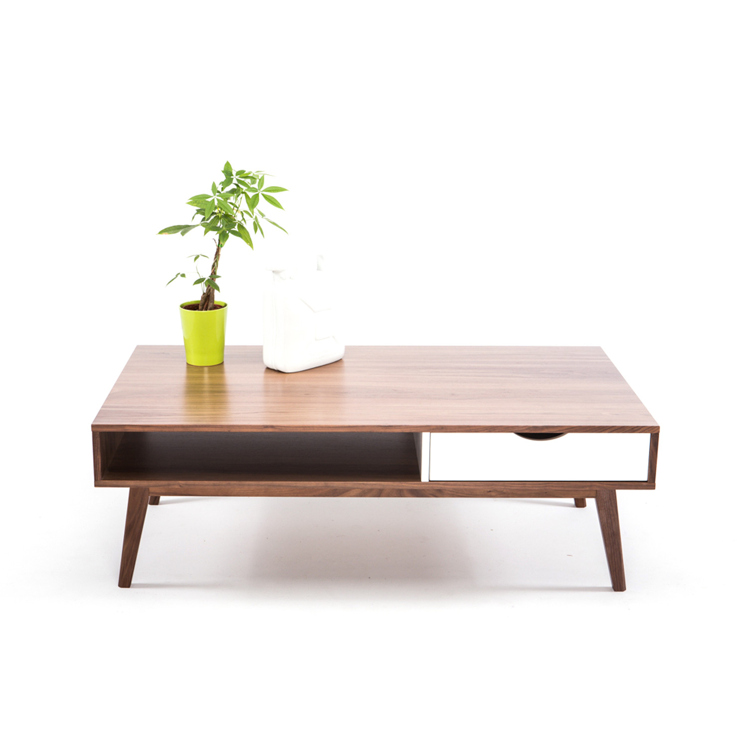 Walnut Coffee Table With Drawer