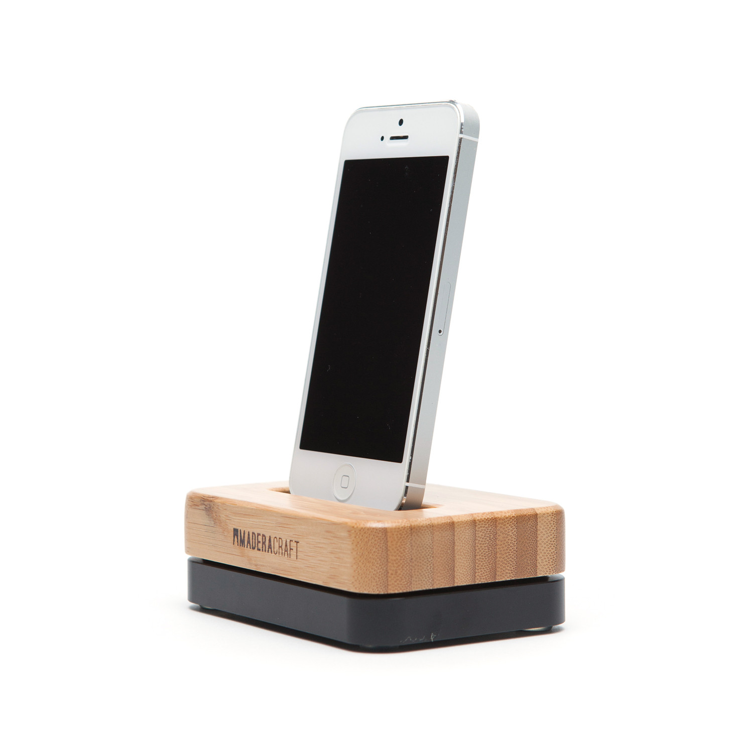 bamboo wood carbon black iphone docking station. Black Bedroom Furniture Sets. Home Design Ideas