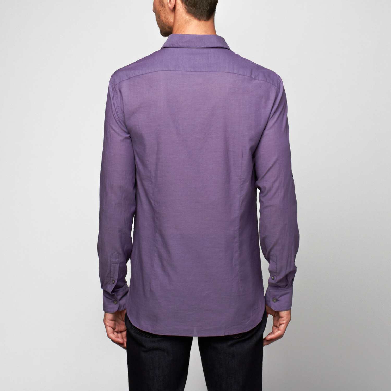 Double zipper pocket button up shirt wisteria s for Travel shirts with zipper pockets