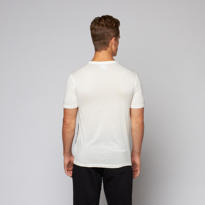 Slim fit t shirt white dark grey s kappa touch for Slim fit white t shirt