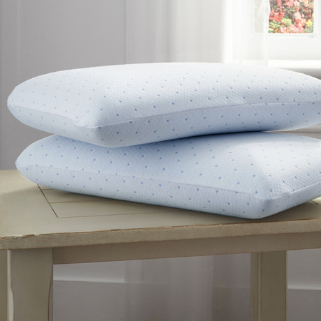 Tempure Rest Cool-Blue Memory Foam Conventional Pillow - Pure Rest by Rio Home Fashions - Touch ...