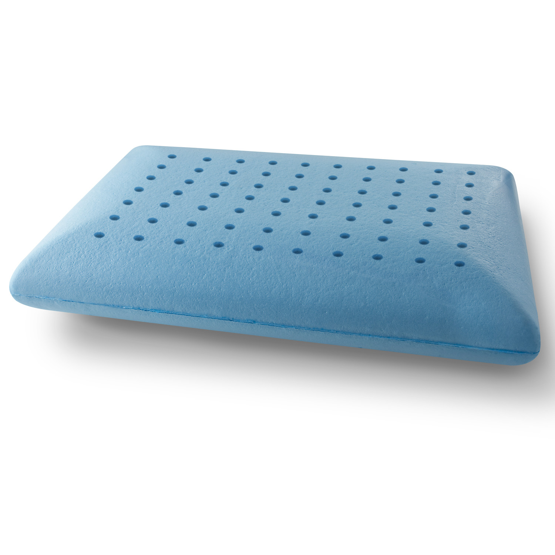 Arctic Sleep Cool Blue Memory Foam Pillow Contour Pure