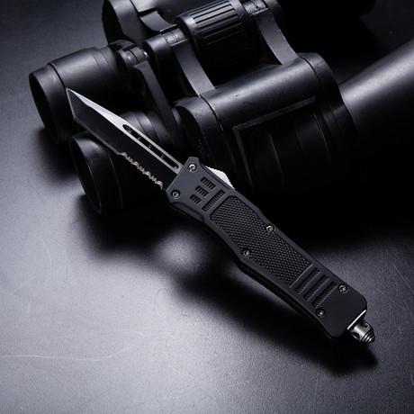 Mini Raven OTF Tactical Knife // Serrated