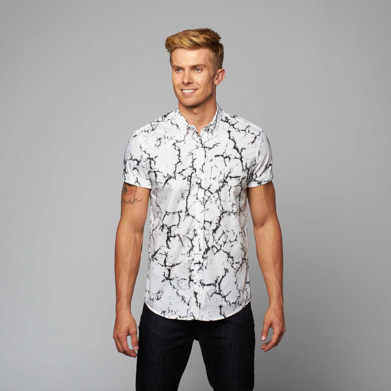 Coronet Shirt White M Aka Clothing Touch Of Modern