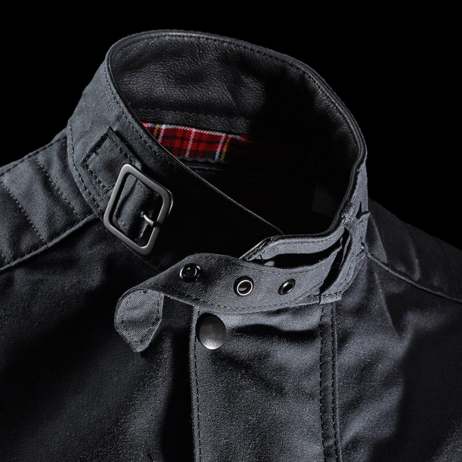 Long Waxed Canvas Jacket Black S Benrus Touch Of