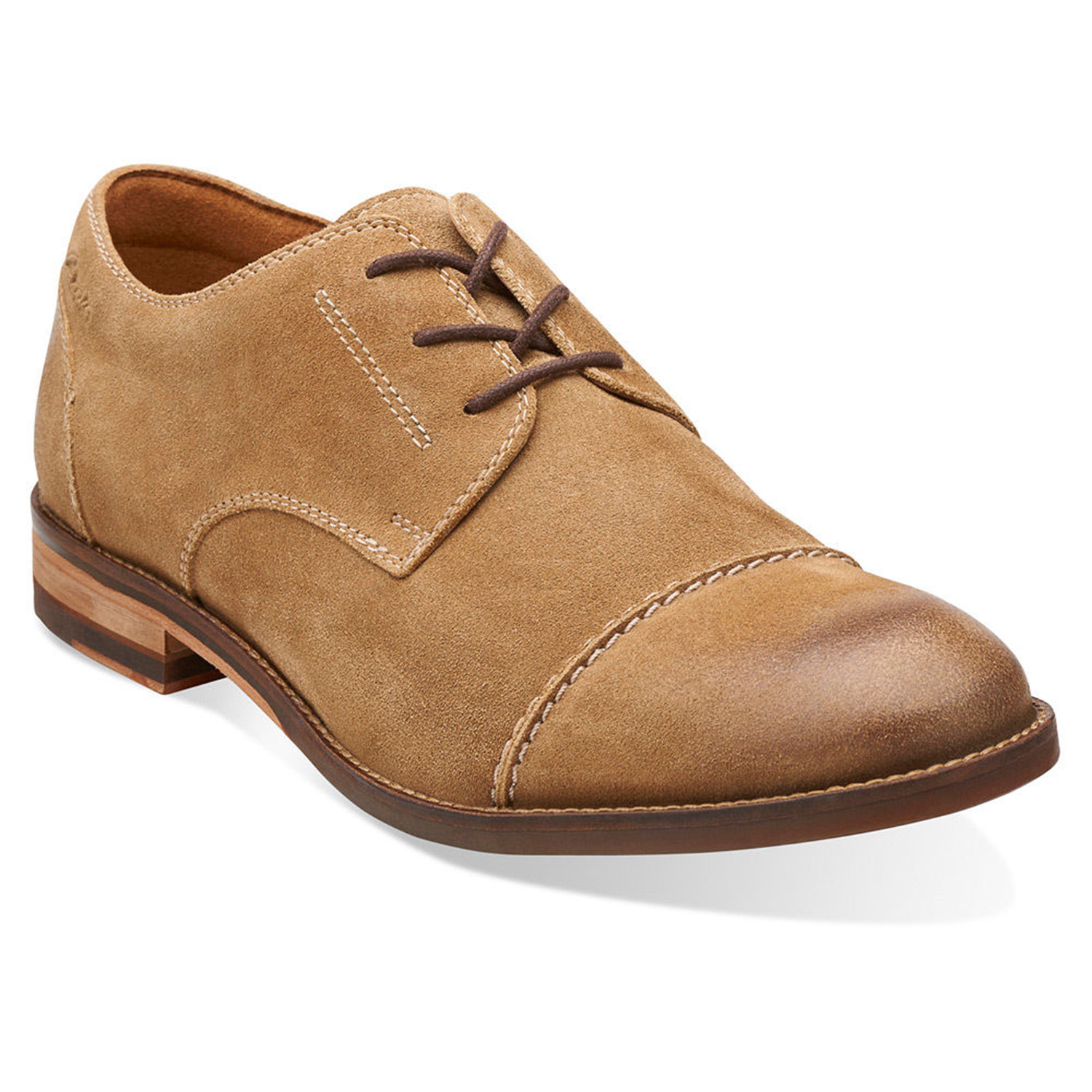 Exton Cap Oxford // Taupe Suede (US: 7)