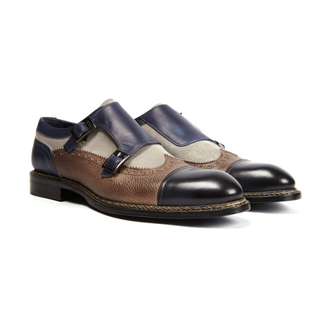 Nordve Wing Cap Double Monk strap // Charcoal
