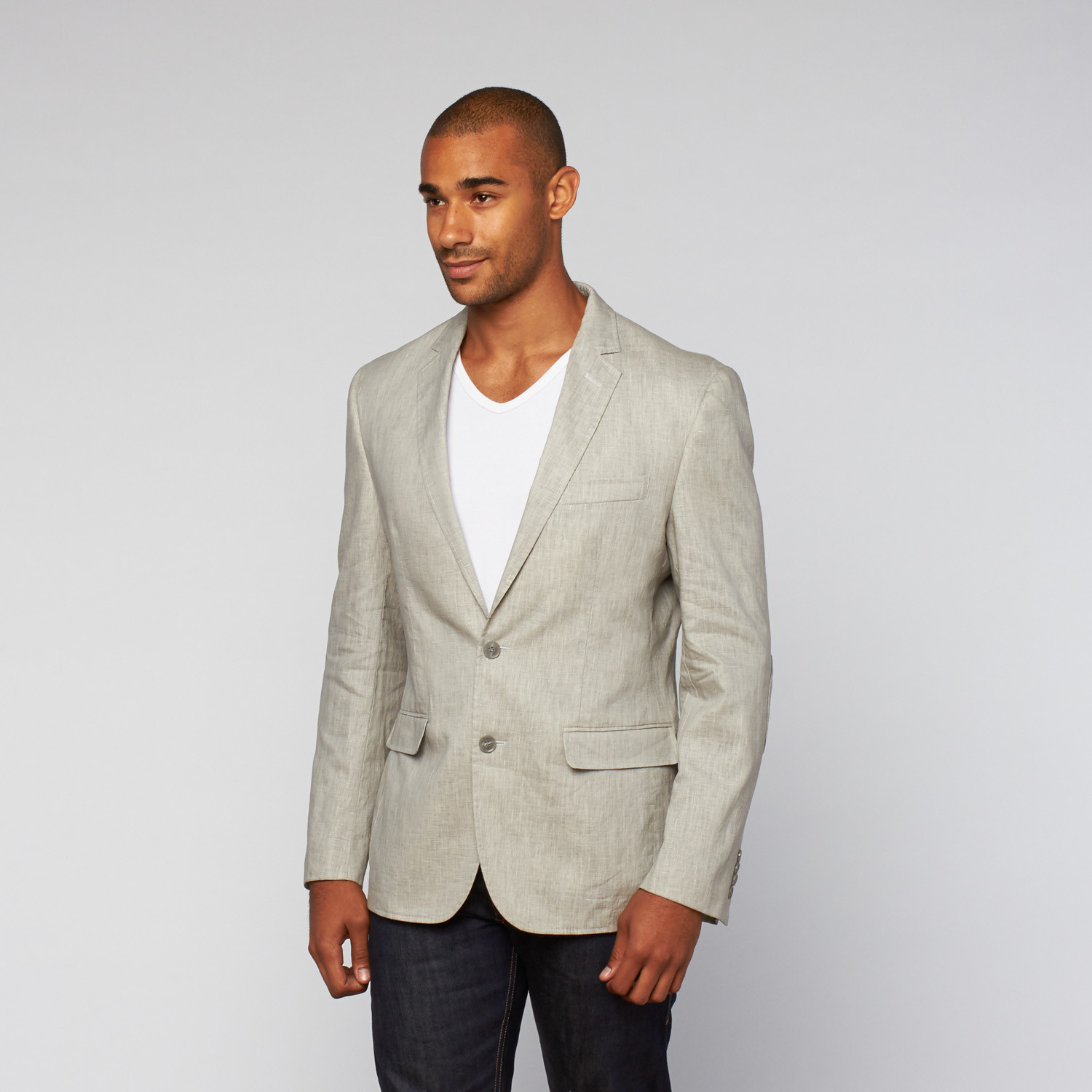 Casual Washed Linen Jacket // Charcoal (US: 38S)