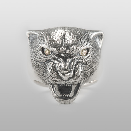 The Panther // Sterling Silver + Yellow Diamonds (Size 8)