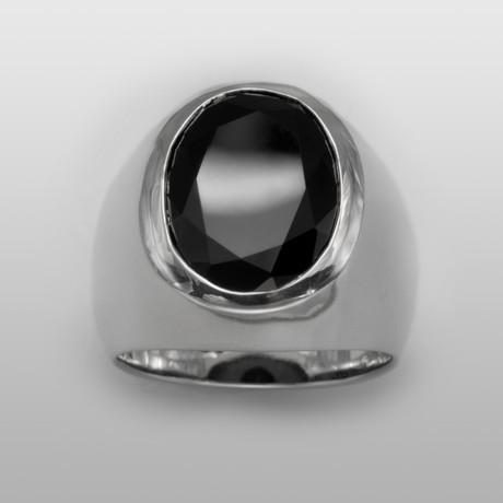Marrakech // Sterling Silver + Onyx (Size 8)