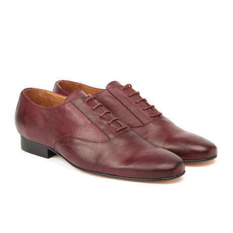 Angel Classic Blucher // Burgundy (Euro: 42)