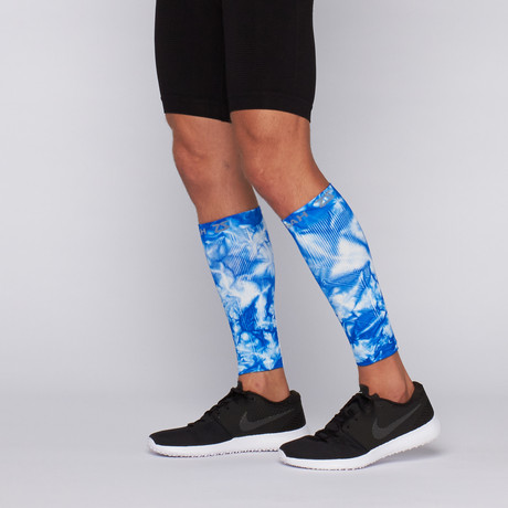 Compression Leg Sleeves // Tie Dye Electric Blue