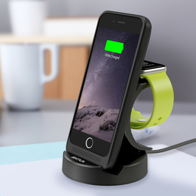 energyskin iphone 6 wireless charging dock battery case. Black Bedroom Furniture Sets. Home Design Ideas