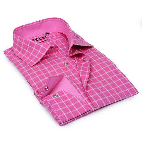 Gingham Button-Up // Pink (S)