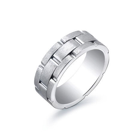 Titanium + Tungsten Linked Band (Size 7)