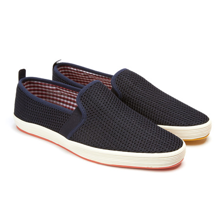 Fry 2 slip on navy euro 40 fish n chips footwear for Fish n chips shoes