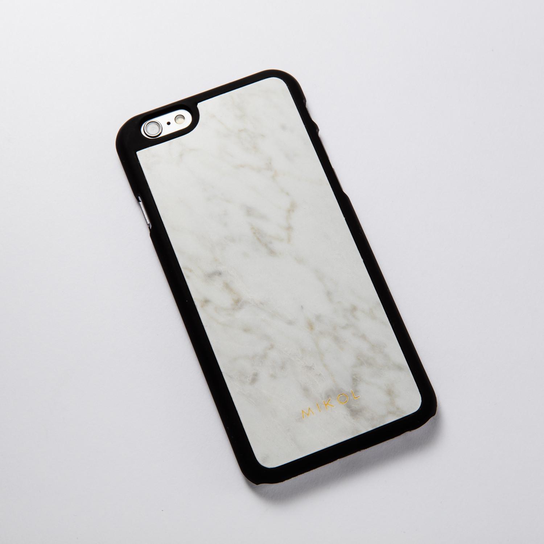 outlet store e32cc a9c4f Carrara White iPhone Case // Black Border