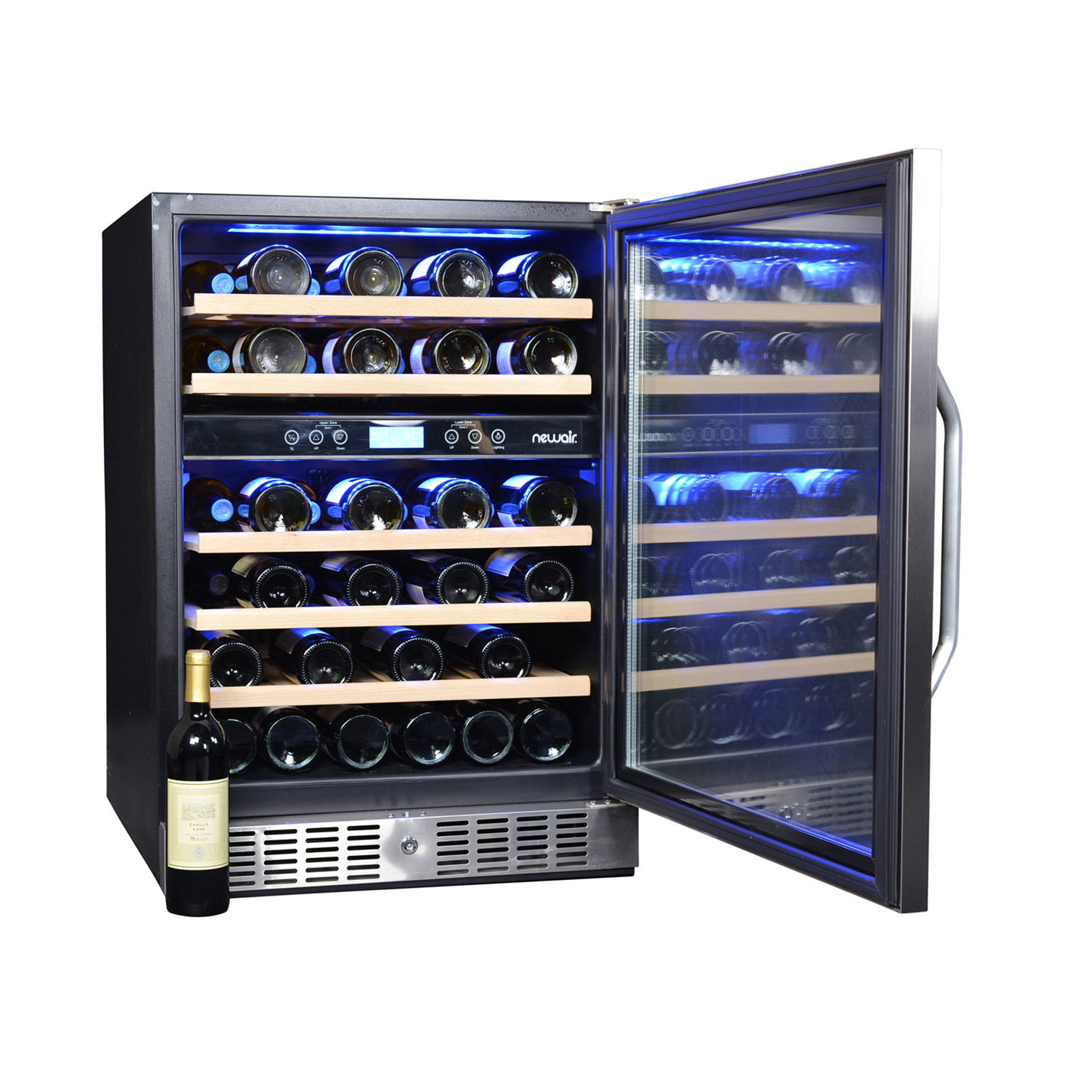 46 bottle dual zone wine cooler luma comfort touch of for Modern homes 8 bottle wine cooler