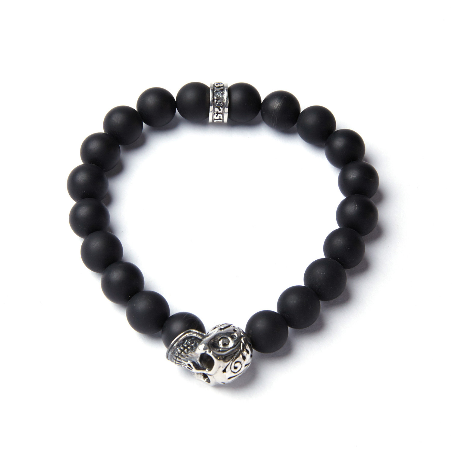 10mm black onyx bead bracelet king baby touch of modern for King baby jewelry sale