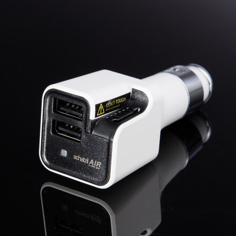 Air Ionic Auto luchtreiniger + Dual USB Car Charger