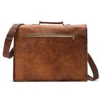 "Leather Messenger (13""L x 10""W x 4""H)"