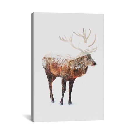 """Deer V (26""""W x 18""""H x 0.75""""D)"""