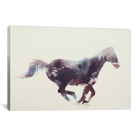 "Horse I // Andreas Lie (26""W x 18""H x 0.75""D)"