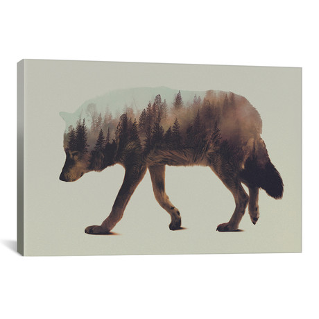 """Wolf I // Andreas Lie (26""""W x 18""""H x 0.75""""D)"""
