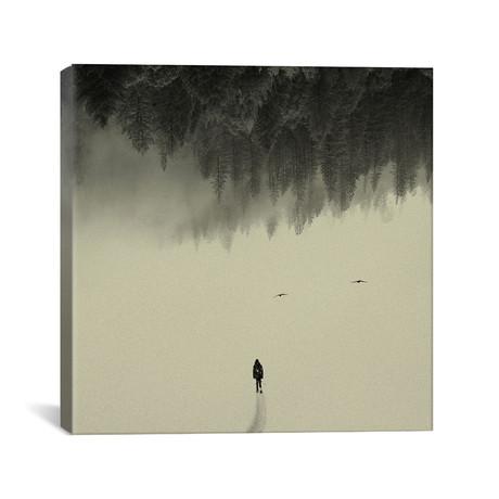 """Silent Walk // Andreas Lie (18""""W x 18""""H x 0.75""""D)"""