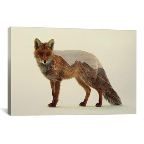 """Mountain Fox (26""""W x 18""""H x 0.75""""D)"""
