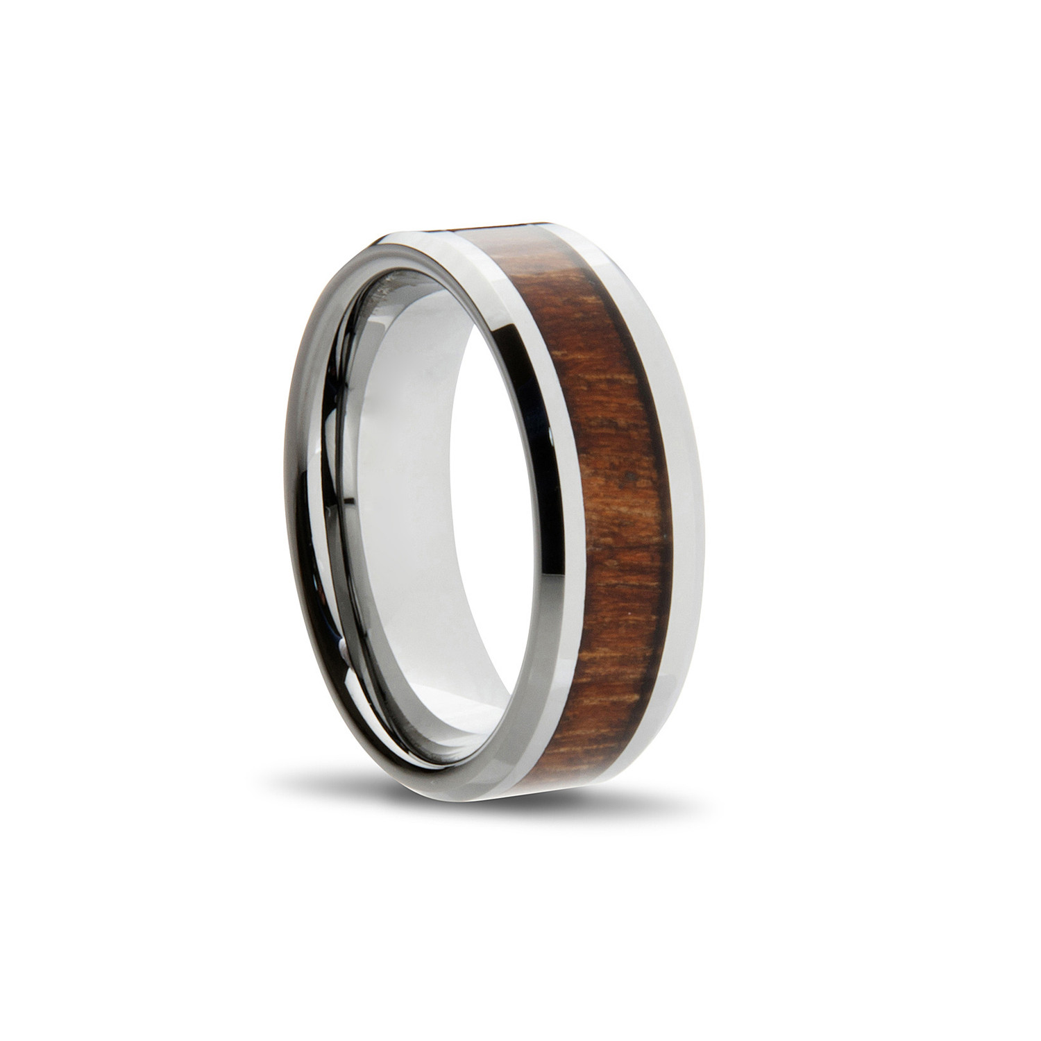 wood inlay ring silver size 8 kavalri touch