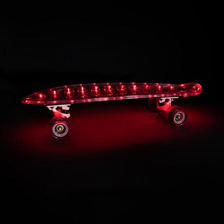 Altbee Desire Minicruiser LED Skateboard // Red