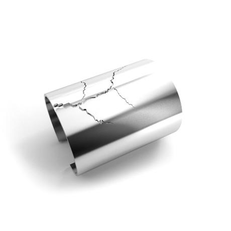 Cracked Bracelet // Sterling Silver