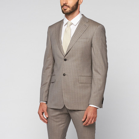 Pierre Balmain // Wool Two-Piece Suit // Light Grey Pinstripe (Euro: 50)