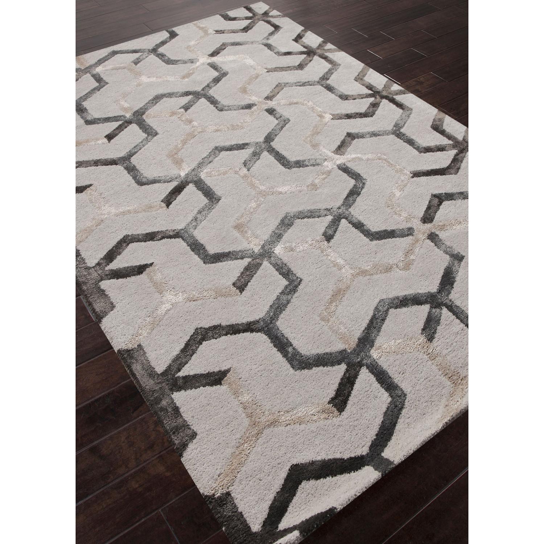Addy Geometric Wool Silk Rug 5 6 L