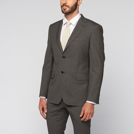 Pierre Balmain // Wool Two-Piece Suit // Charcoal Pinstripe (Euro: 50)