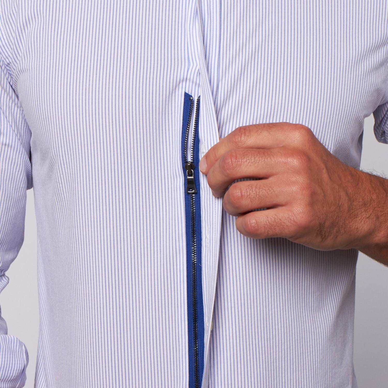 Gt Seersucker Button Up Blue Xl Teddy Stratford Permanent