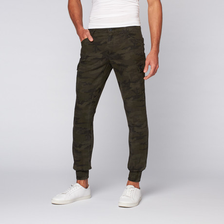 The New Standard Edition // Jordan Slim Stretch Twill Cargo Jogger // Black