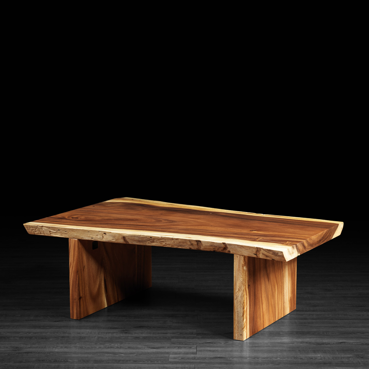 freeform suar wood coffee table wooden legs artemano touch of modern. Black Bedroom Furniture Sets. Home Design Ideas